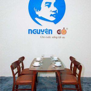Bộ bàn ghế ăn giá rẻ Mango Nâu - Nguyên Gỗ 4