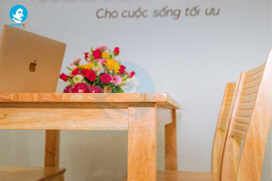 Bộ bàn ăn gia đình giá rẻ 4 ghế Cherry - Màu tự nhiên 2