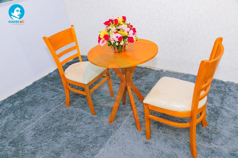 Bàn cafe tròn 2 ghế chân chụm - Màu cam 2